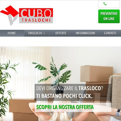 Realizzazione sito web Cubo Traslochi