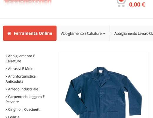 Realizzazione sito Ecommerce Ferrutensili