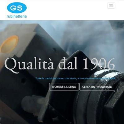Realizzazione sito web GS Rubinetterie