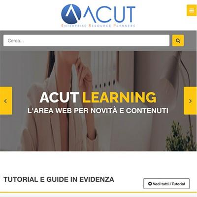 Realizzazione sito web ACUT CUSTOMER SERVICE
