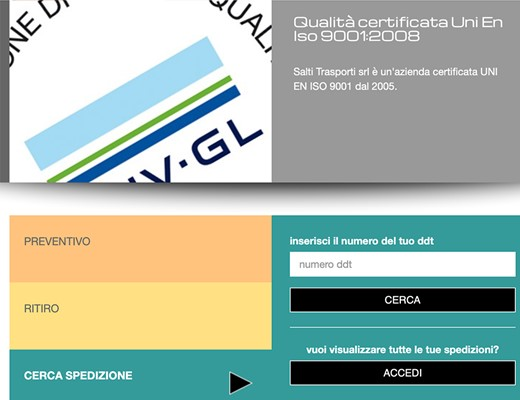 Realizzazione sito web Salti Trasporti