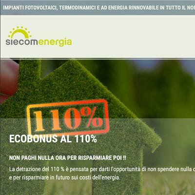 Realizzazione siti web Siecom Energia