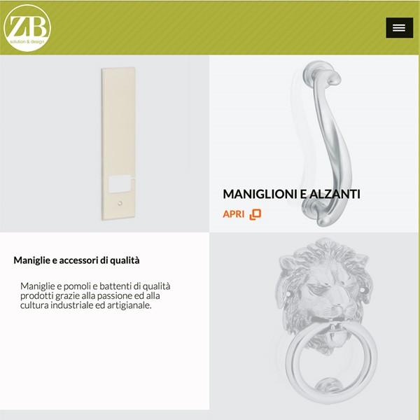 Realizzazione sito web Zb Maniglie